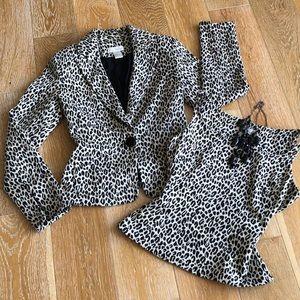 Leopard Print Ponte Jacket w/FREE Matching Shell❣️